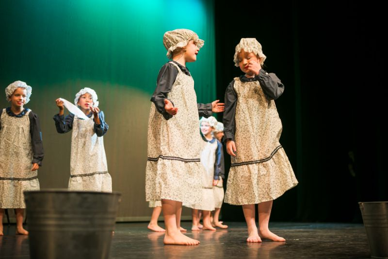 Eight year old Musical Theatre dancers in Woking Surrey